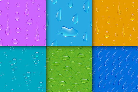 condensation: Realistic transparent water drops bubble seamless pattern background Stock Photo