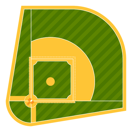 umpire: Cartoon baseball field batting vector design american game athlete sport league equipment Illustration