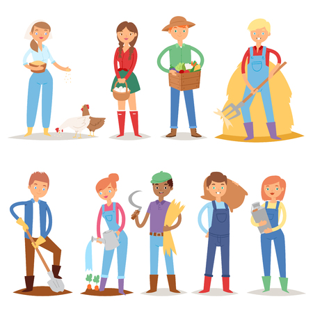 Different farmers character set.
