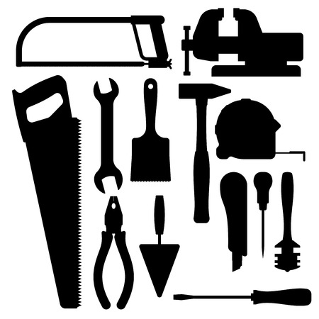 constructional: Vector various color flat design house repair instruments equipment icons construction house tools.