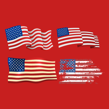 Independence Day Usa Flags United States American Symbol Freedom