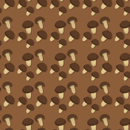 Amanita fly agaric toadstool mushrooms fungus seamless pattern background art style design vector illustration.