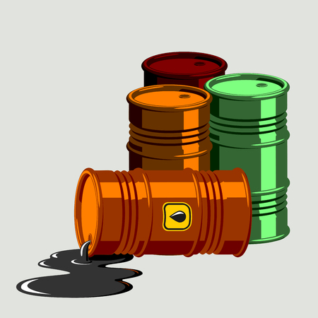 bowels: Oil drums vector illustration