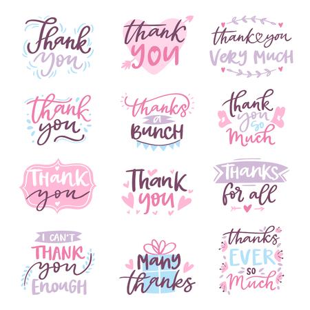 Dziękuje Ciebie wektorowej karcianej teksta loga listu pisma typografii ilustracyjnego dziękczynnego projekta powitania literowania znaka dziękczynienia ilustraci sztuka