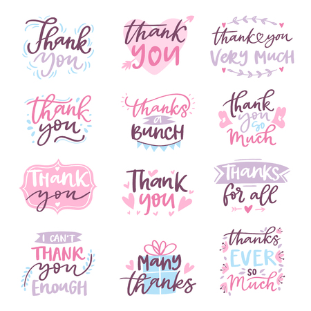 Thank You vector card text logo letter script typography illustration thankful design greeting lettering sign thanksgiving illustration art