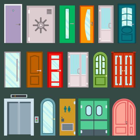 Vector doors design illustration