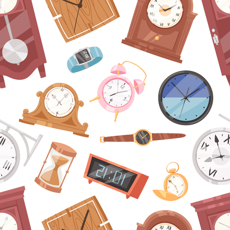 Clock vector watch with clockwork and clockface or wristwatches clocked in time.