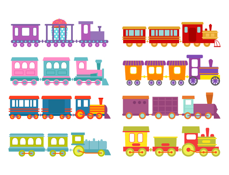 Railroad transportation toy locomotive illustration.
