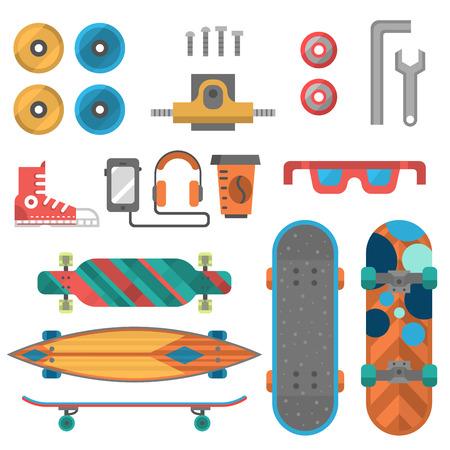 Skateboard fingerboard icon. Vector sport equipment, skating transportation decorative speed freestyle leisure.