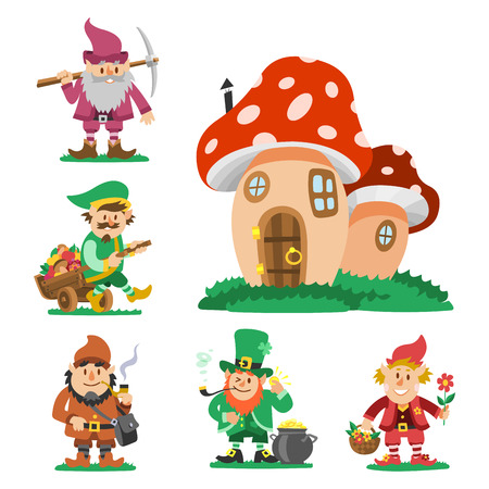 Fairy tale characters set icon