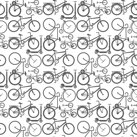 Vintage retro bicycle and style antique sport old fashion grunge flat pedal ride vector. Riding bike transport illustration. Healthy lifestyle vehicle seamless pattern background.