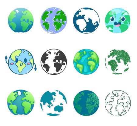 Earth planet  global world universe and worldwide earthly universal globe