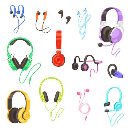 Headphone  headset listening to stereo sound music earphones Ilustração