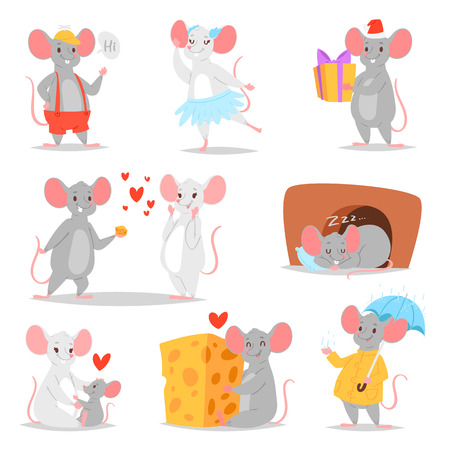Cartoon mouse  mousy animal character rodent Banco de Imagens