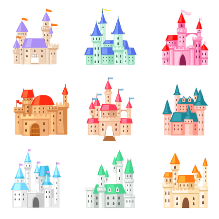 Cartoon  fairy tale medieval tower of fantasy palace building Stock Photo
