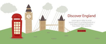 Discover England banner web design Zdjęcie Seryjne - 122843103