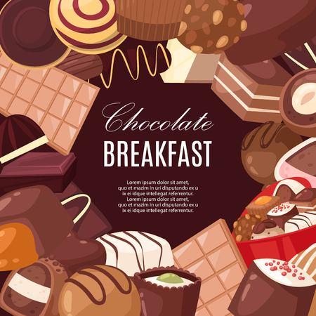 Chocolate breakfast banner