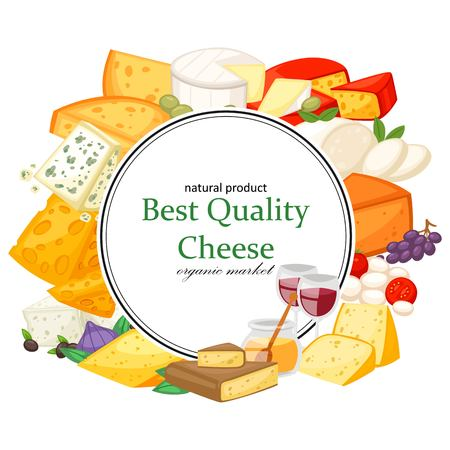 Best quality special cheeses realistic composition