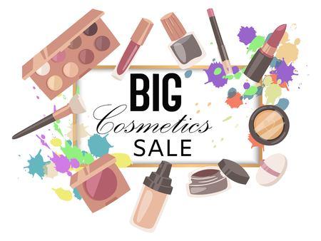 Big cosmetics sale banner Ilustração
