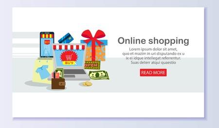 Online shopping banner Ilustracja