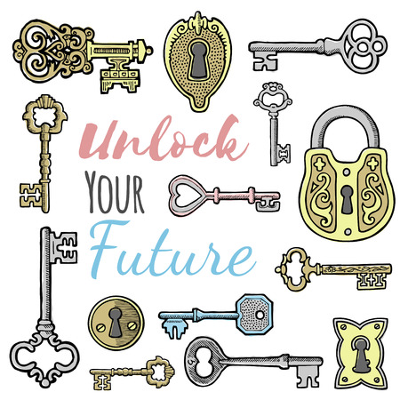 Unlock your future banner Ilustração