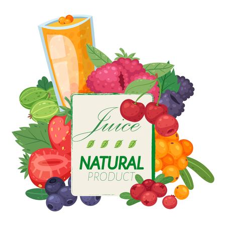 Fresh juice from berries banner