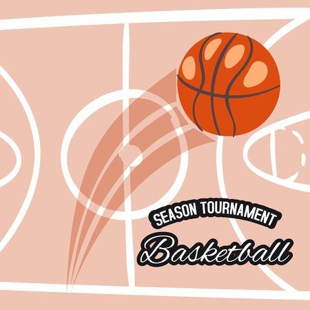 Basketball season tournament banner Ilustracja