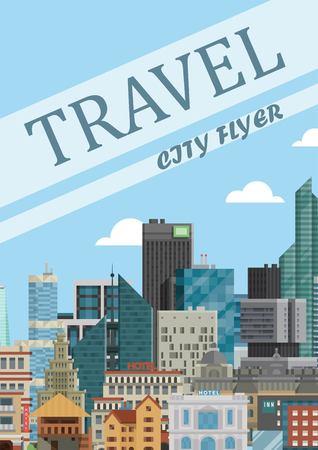 Travel city flyer