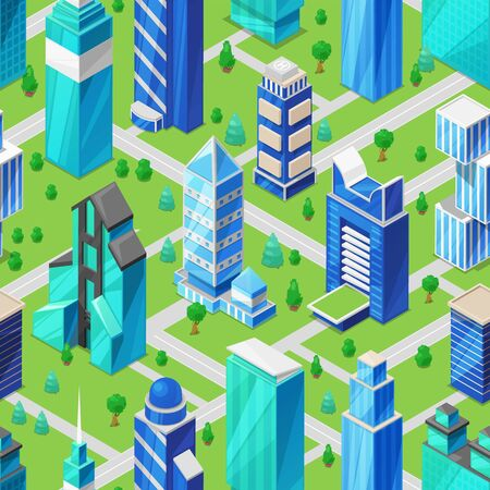 Building skyscraper in cityscape vector city skyline and business officebuilding of commercial company and build architecture to high skyscraper set illustration urban background
