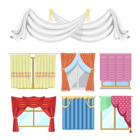 Window curtains and room blinds jalousie for house or creative home interior