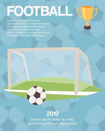 Football or soccer goal sports equipment poster 矢量图像