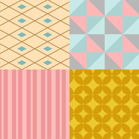 Abstract geometry square seamless pattern geometric graphic texture background illustration wallpaper