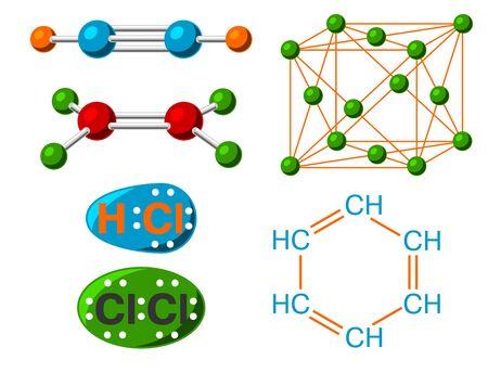 Molecular structure medical evolution life biotechnology microbiology formula illustration. Stok Fotoğraf