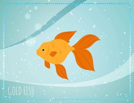 Gold fish with bubbles in sea Archivio Fotografico - 142369403
