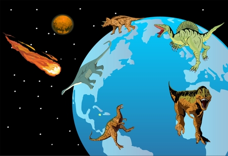 How the dinosaurs vanished from the earth. The giant comet impact caused the katastrophe Иллюстрация