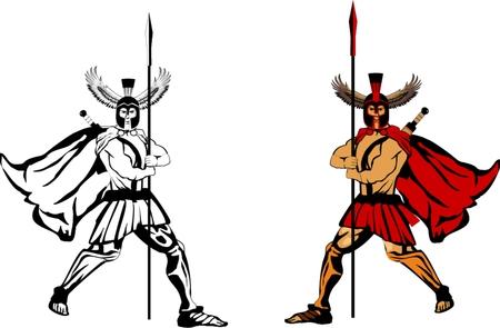 guerrero: 2 guerreros espartanos