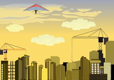 city background: City background illustration Illustration