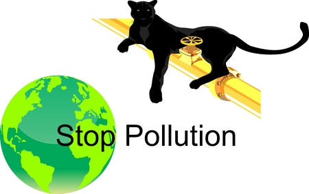 stinky: Stop pollution concept illustration, Eco Friendly, green energy concept, wildlife save. Illustration