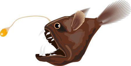 deep water: Deep water electrical fish illustration Illustration