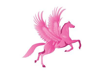 mythical: Mythical horse Pegasus Illustration