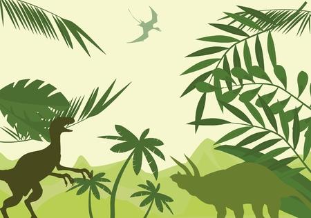 Dinosaurs world Vektoros illusztráció