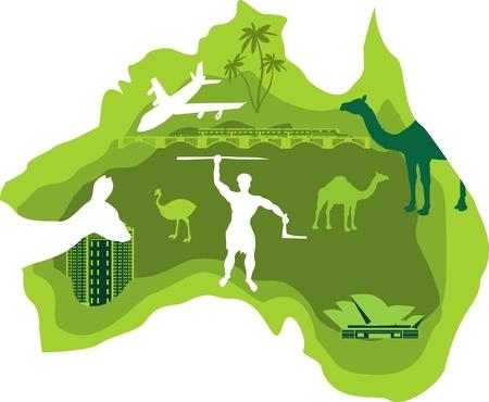 Map of australia, vector illustration