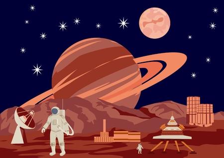 외계 행성의 국제 우주 정거장 스톡 콘텐츠 - 78755491