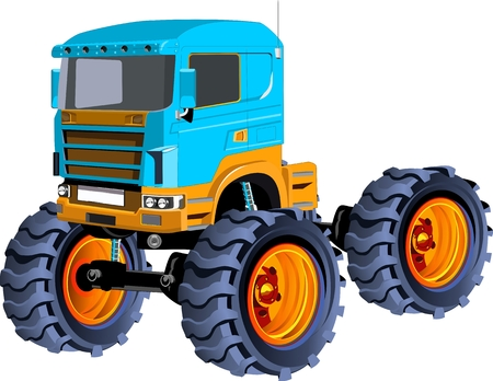 Vector illustration of monster truck with big wheels 3d vector vector vector illustration of monster truck with big wheels 3d vector publicscrutiny Images