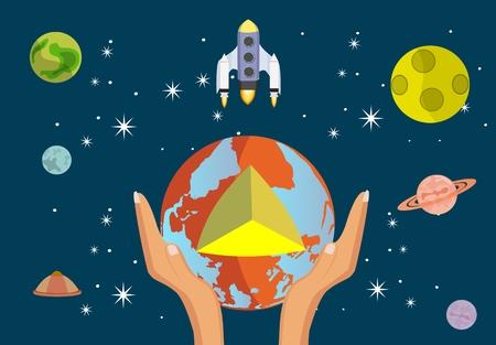 Space theme vector illustration Illustration