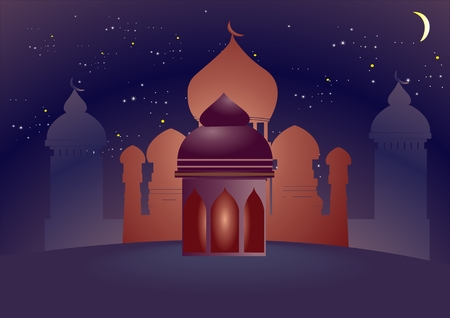 Islam theme background vector illustration
