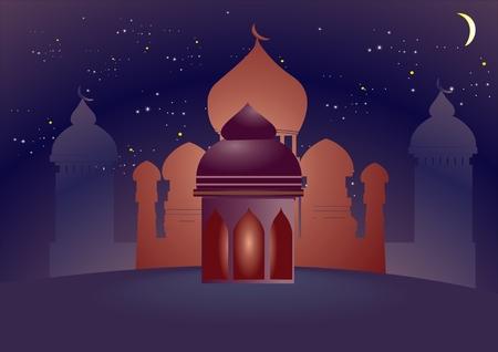 Islam theme background vector illustration