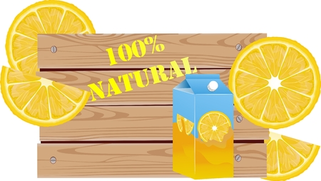 Lemon juise advertising vector illustration isoalted on white