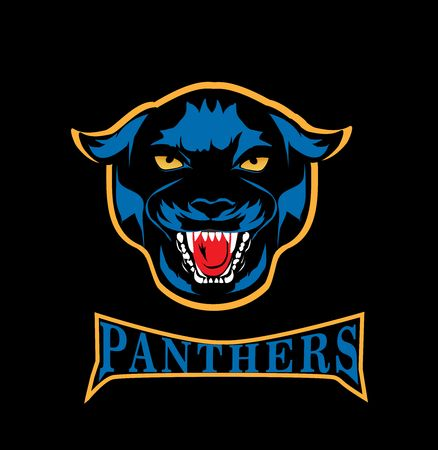 Panther head mascot style vector illustration logo 스톡 콘텐츠 - 127328328