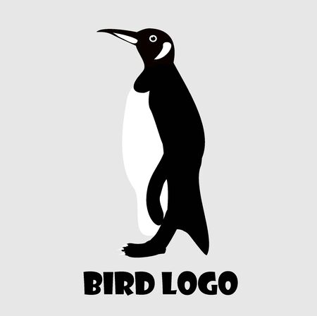 Monochrome Penguin logo is a simple logo, good for any company. Ilustracja